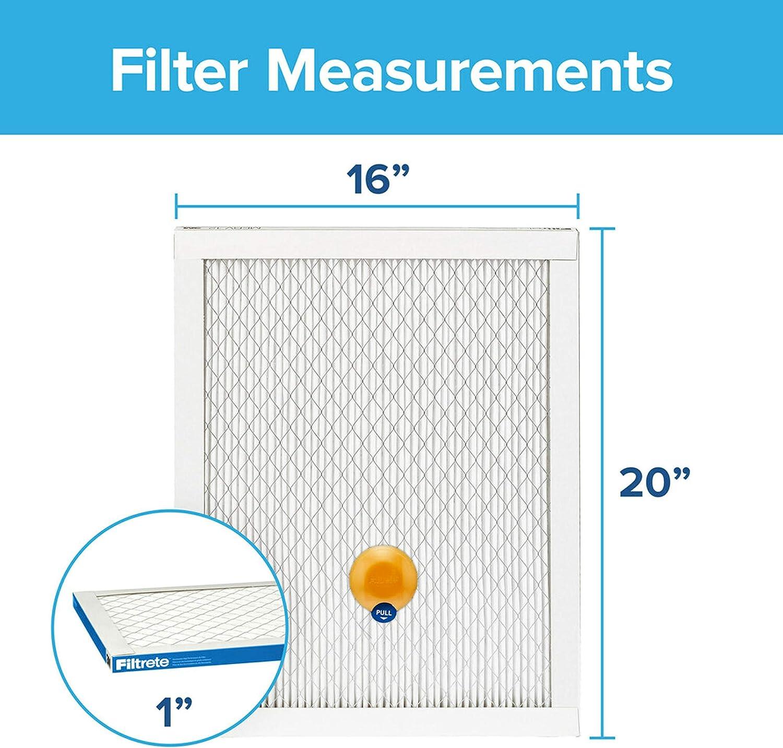 Healthy Living Ultimate Allergen AC Furnace Air Filter 6-Pack MPR 1900 Filtrete UT19-6PK-1E 12x20x1