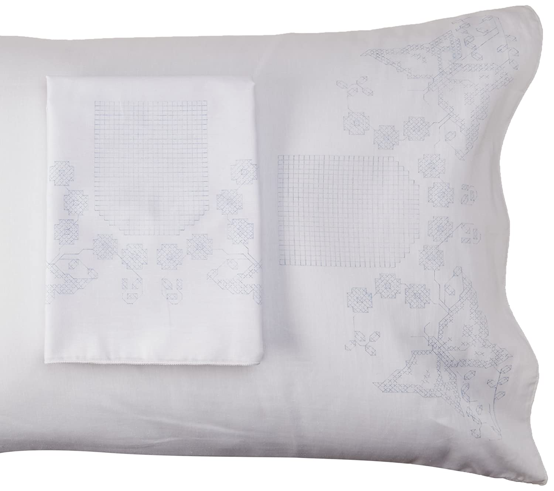 Fairway Monogram Butterflies Stamped Parle Edge Pillowcases 30 by 20 2 Pack