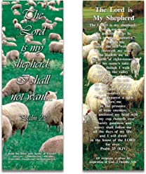 Bible Verse Cards, by eThought – Psalm 23: The Lord Is My Shepherd - Pack of 25 Bookmark Size Cards for reading, study, gifts and encouragement.