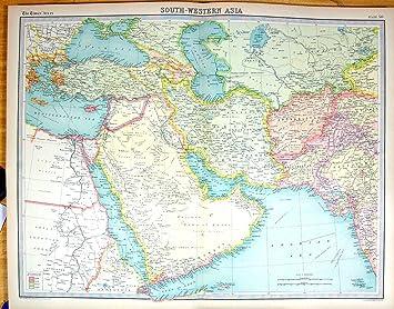 Persien Karte.Zeiten Antike Karte 1922 Südwestliches Asien Afghanistan Persien