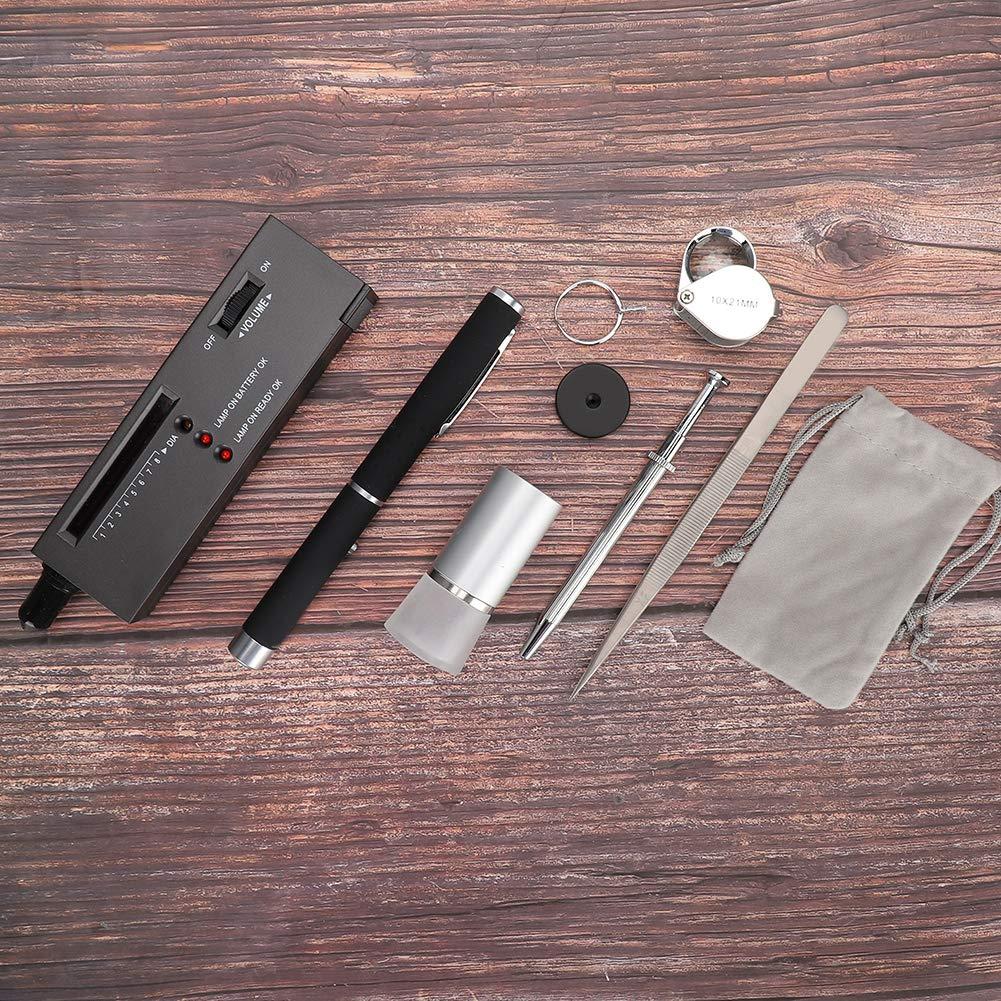 Diamantidentifikationstester-Set einschlie/ßlich Tester//Taschenlampe//Viewer//Lupe//Diamantklaue//Ausschnitt//Pinzette Diamantidentifikationstool