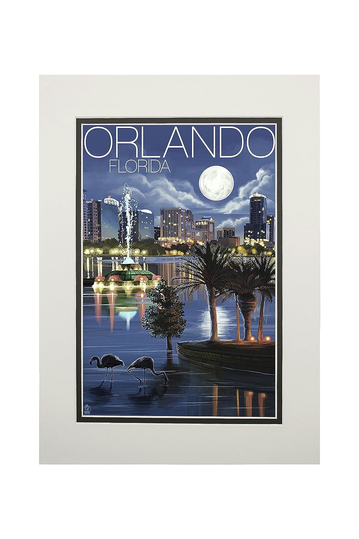 激安超安値 オーランド、フロリダ州 12 – 夜のスカイライン 12 x 18 Metal Sign Print 14 LANT-36394-12x18M B06XZVVWWT 11 x 14 Matted Art Print 11 x 14 Matted Art Print, セキゼンムラ:820ac8f0 --- 4x4.lt