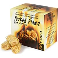 NAKED FLAME Fire Starters, Natural Fast Lighting Charcoal Starters 32 or 50 Pieces, Wood Pellets, BBQ Grill, Fire Pit…