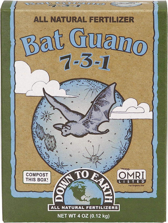 Down to Earth Organic Bat Guano Fertilizer Mix 7-3-1, 0.25 lb