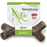 Benebone Bacon Stick Real Wood Durable Dog Chew Toy, Made in USA, Large