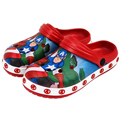 836f382ebcf0 Marvel® Avengers Official Children Kids Boys Sandals Swimming Pool Beach  Clogs Slippers Shoes UK Sizes (18 Months to 9years)  Amazon.co.uk  Shoes    Bags