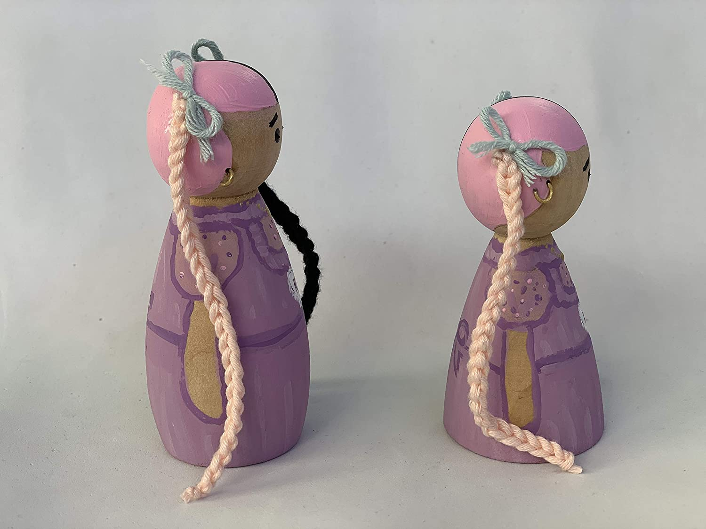 Figura de madera Peg Doll mu/ñeca Melanie Martinez K-12