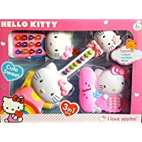Clastik Children Kid's 3in1 Musical and Sound Funny Hello Kitty Playset with Guitar Mobile and Telephone