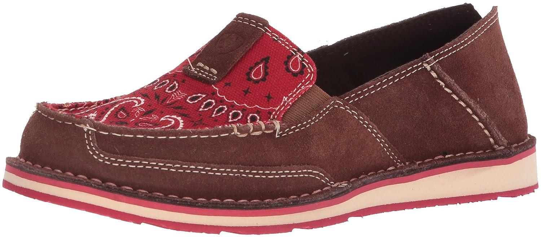 Ariat Women's Cruiser Slip-on Shoe B076MMYC3L 8 B(M) US|Palm Brown/Red Paisley Print