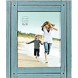 PRINZ Homestead Moldura rústica de 20 cm x 25 cm com acabamento envelhecido, azul