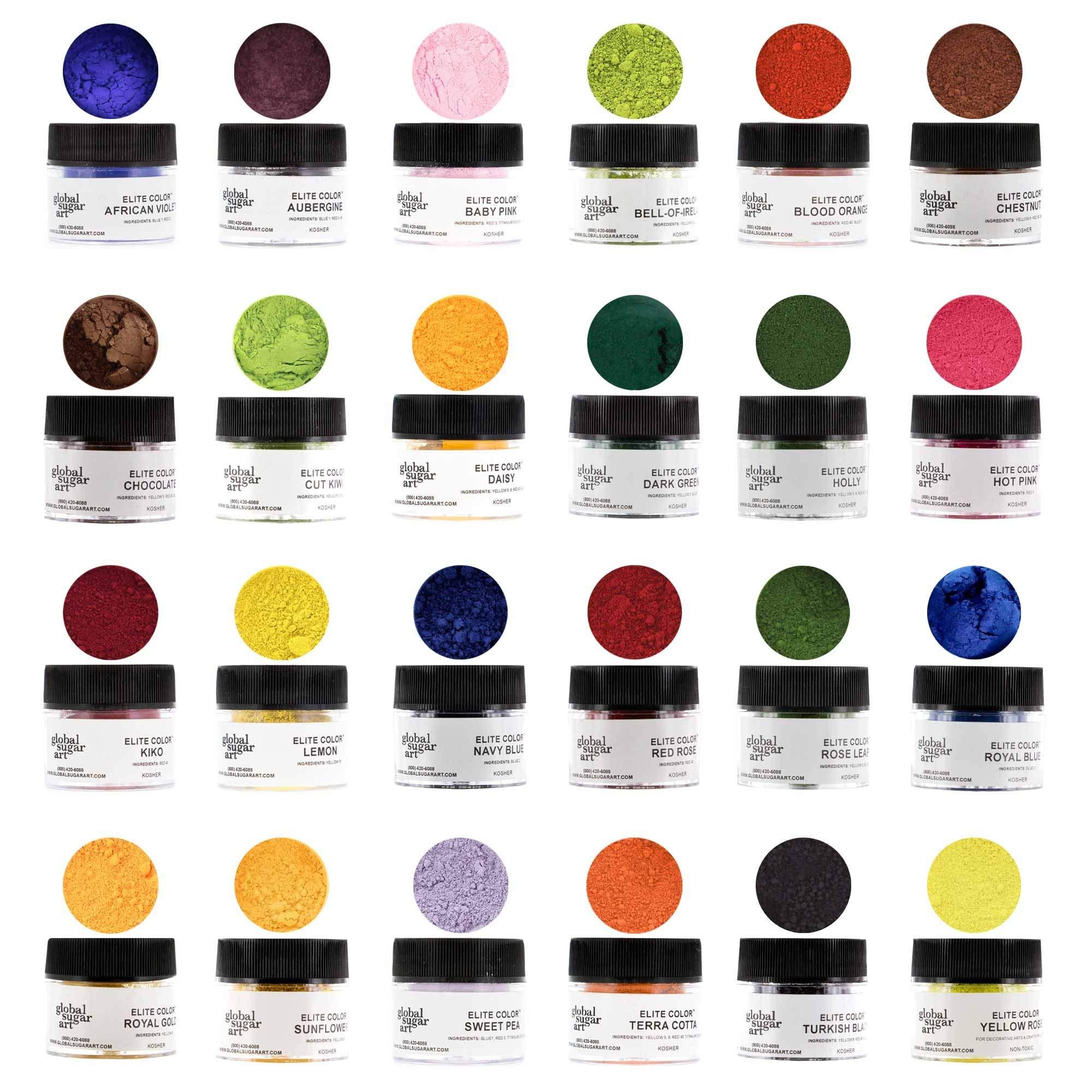 Master Premium Petal Dust Kit, 24 Color by Global Sugar Art by Global Sugar Art (Image #2)