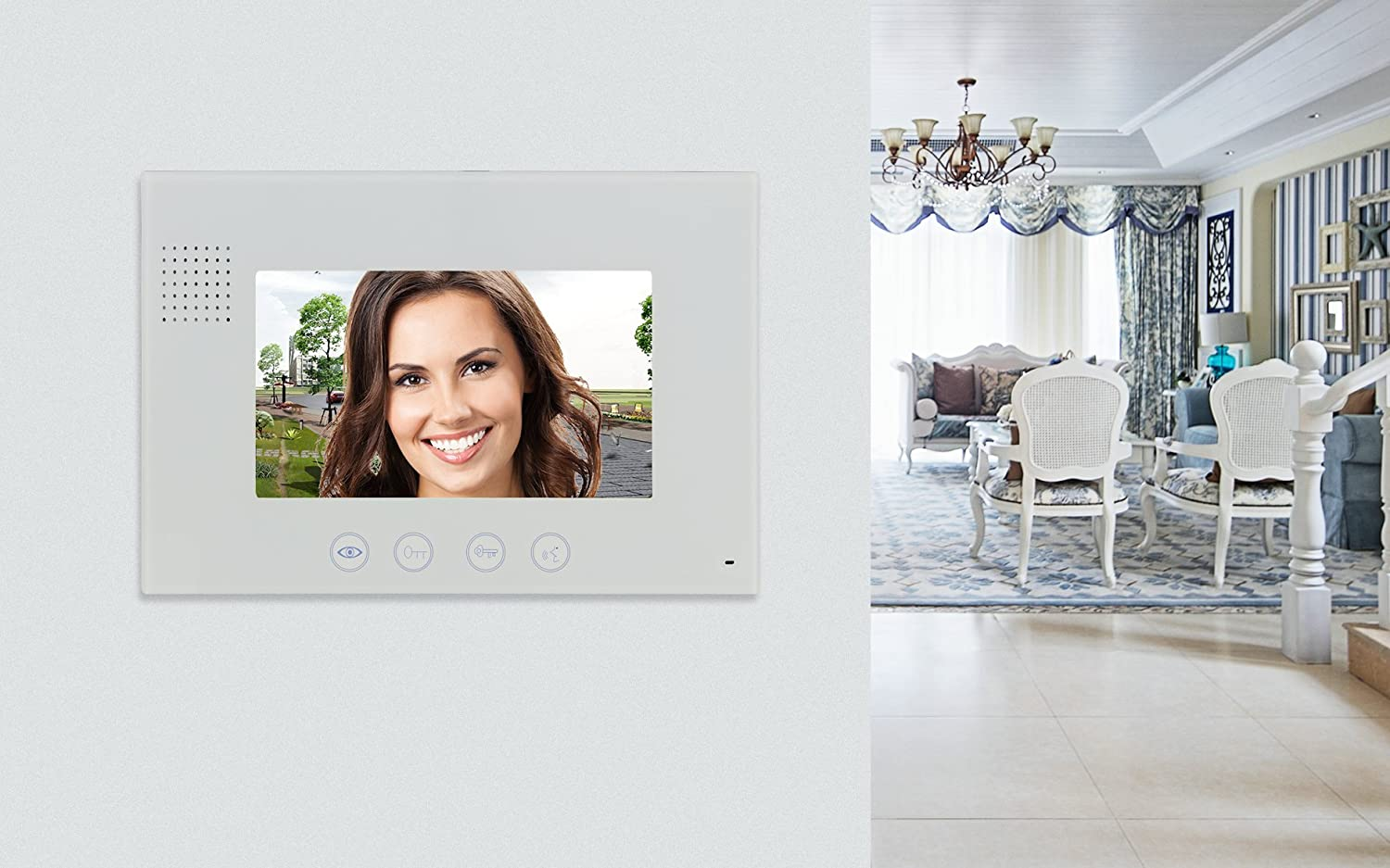 Gbf Smart Four Wire Door Phone Doorbell Circuit Diagram As Well Ring Box Contents On Wiring Intercom System Camera Photo