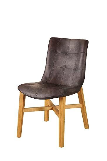 SAM® Esszimmer Design Stuhl Bernd In Choco Eiche Massiv Pflegeleicht  Modernes Design