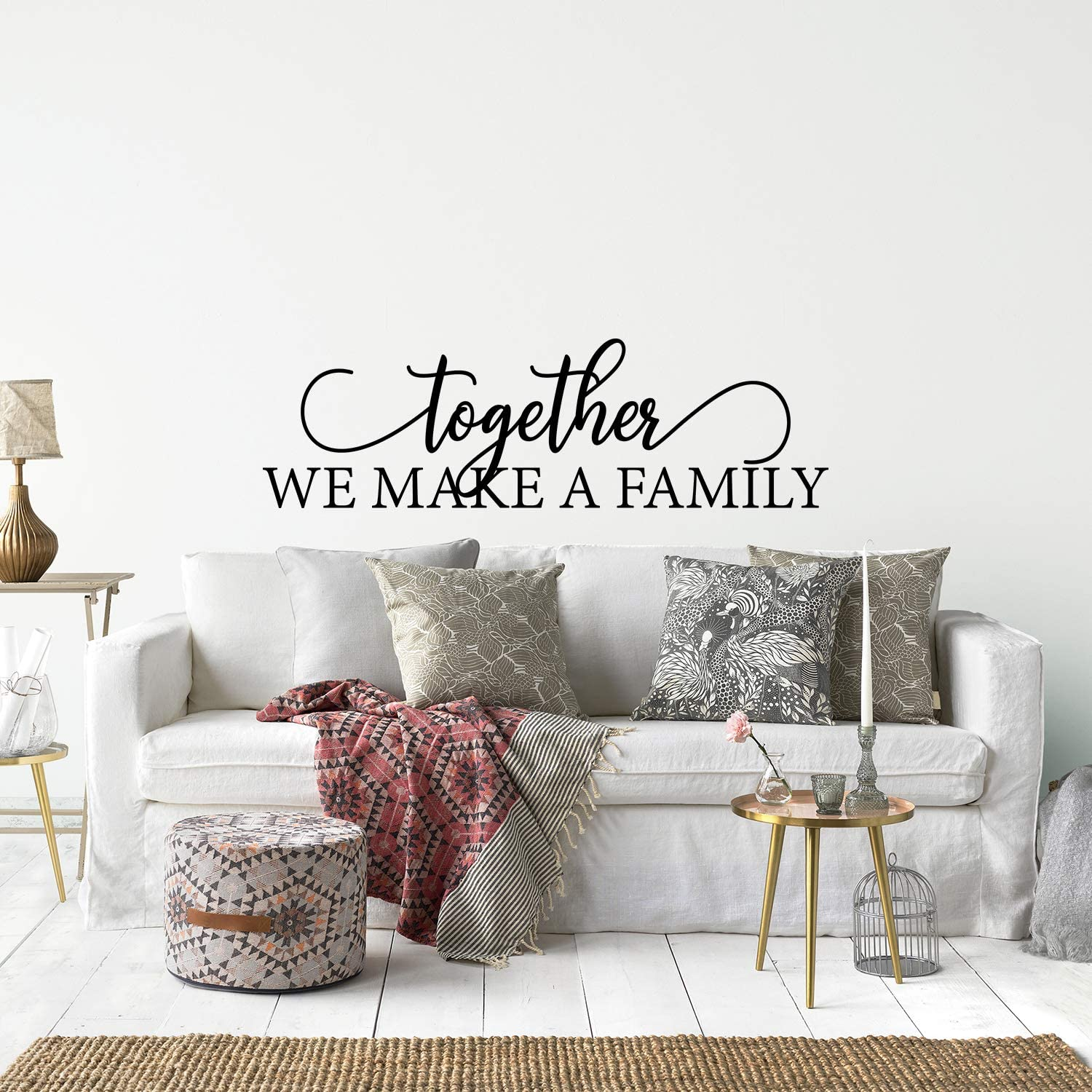 Amazon Com My Vinyl Story Family Wall Decals For Living Room Decor Family Wall Decor Wall Stickers Decorations Home Art Bedroom Love Decals Quotes Word Together We Make A Family Home