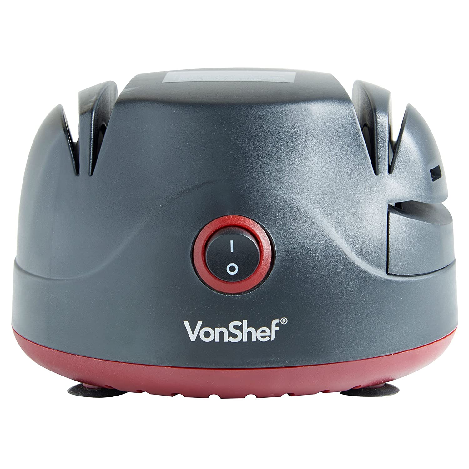 VonShef Electric Two Stage Knife Sharpener with Screwdriver Sharpening Port & Scissor Groove