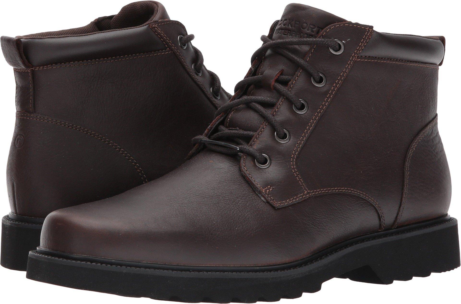 Rockport Men's Northfield WP Plain Toe Chukka Boot- Chocolate Waterproof-10.5 XW