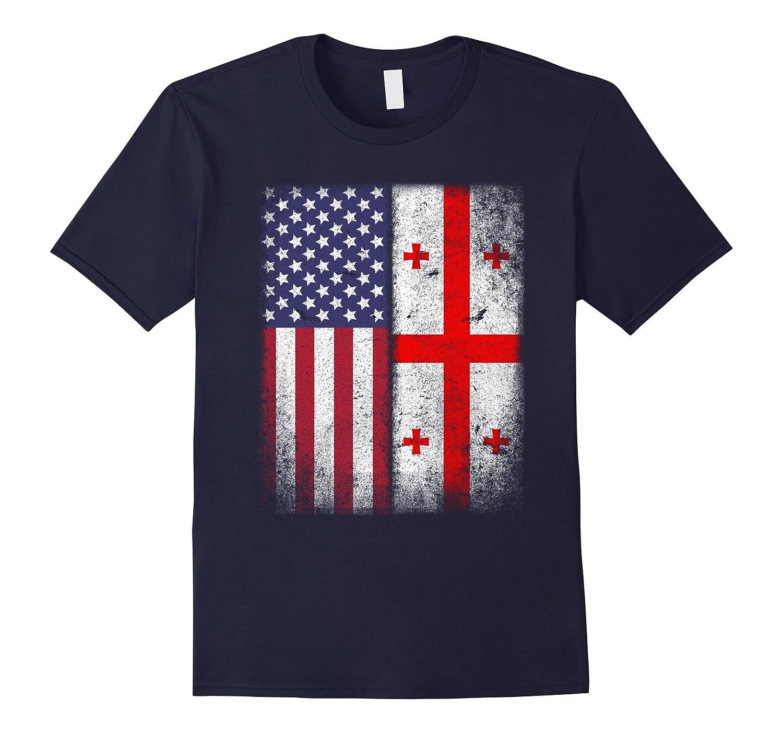 American Georgian Flag T-shirt Georgia Republic Country-Art