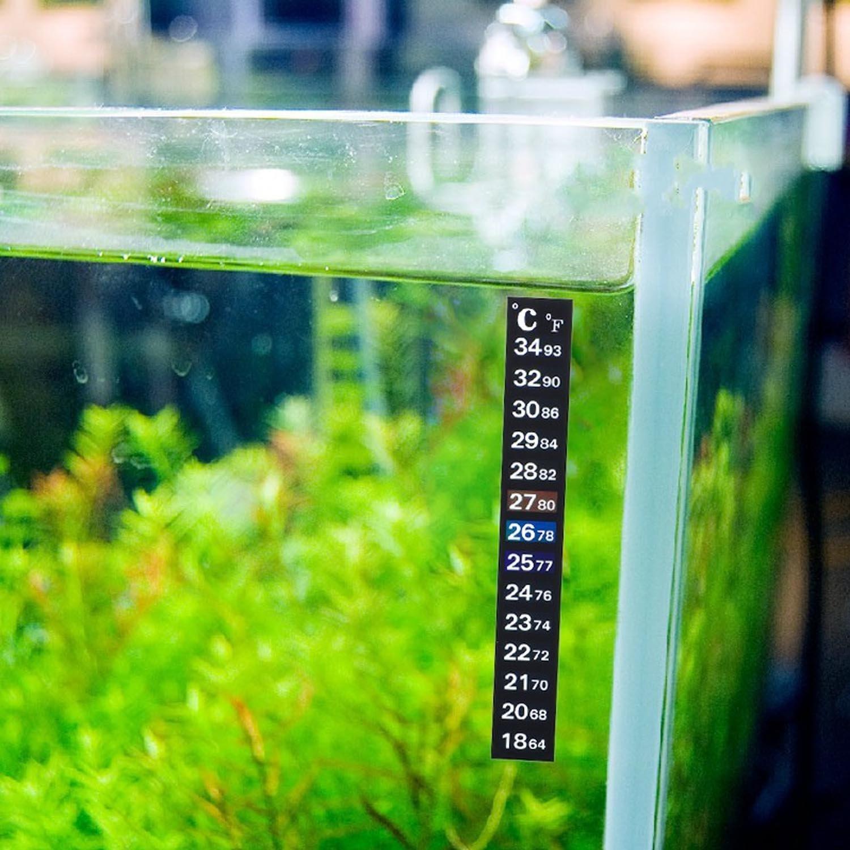 2Pcs Portátil Termómetro Digital etiqueta engomada del acuario cambio inducción Monitor pegatina de Color de temperatura: Amazon.es: Hogar