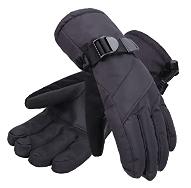 ec0201f0081c7 Andorra Men's Abstract Deluxe Thinsulate Cotton Touchscreen Sport Ski Gloves ,Black,S