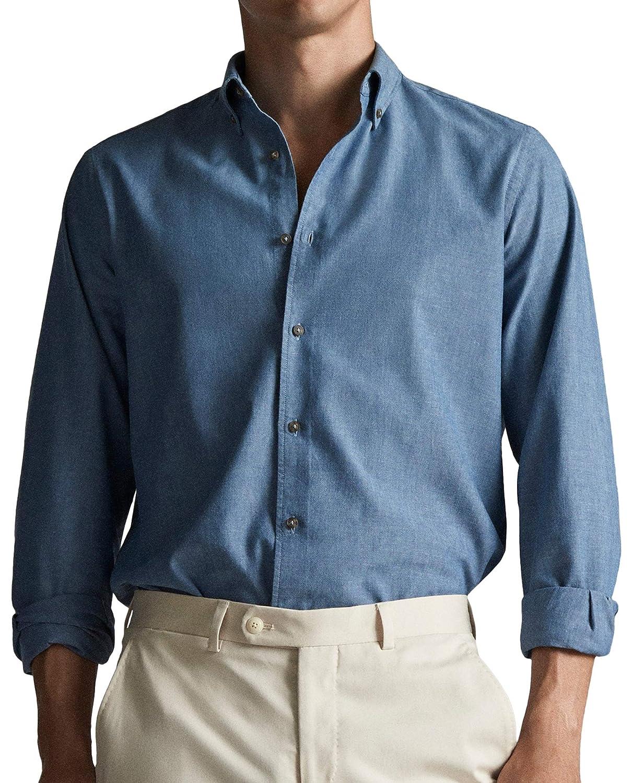 MASSIMO DUTTI 0165/126/400 - Camisa de Mezclilla para Hombre ...