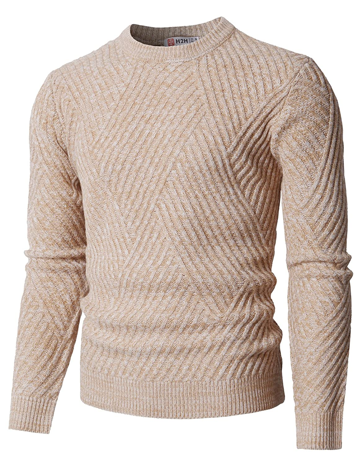 Ohoo Mens Slim Fit Crew-Neck Pullover Sweater at Amazon Men's ...