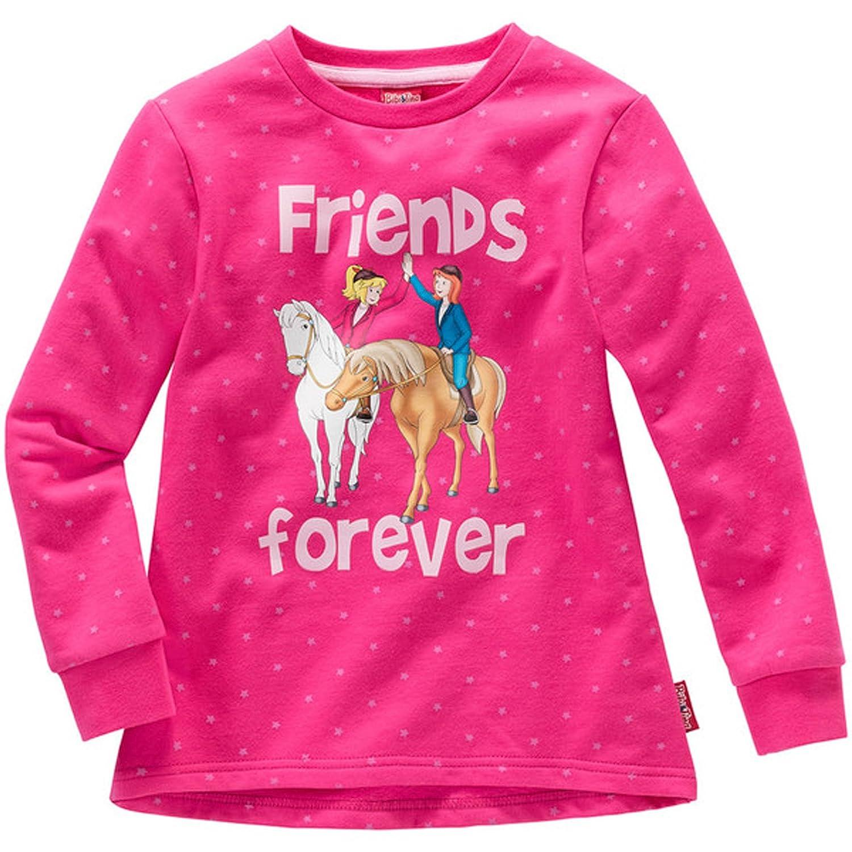 Bibi & Tina Kinder Mädchen Sweatshirt Friends Forever Pullover Sweater Pulli Pink 98 bis 152