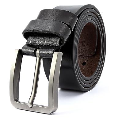3ZHIYI Ceinture pour homme en cuir avec boucle d ardillon ceinture Simple  exquis ceinture chic 46ecd31b4a3