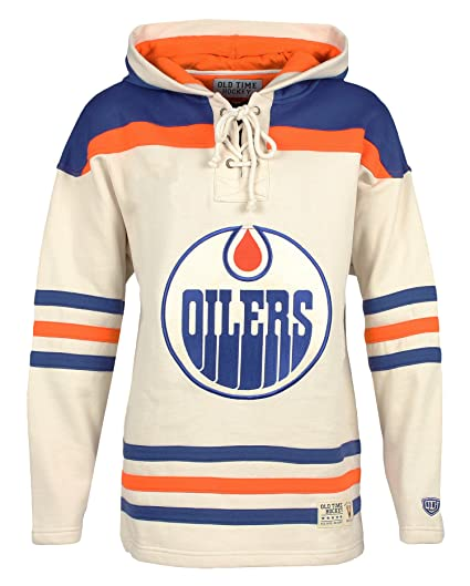 Old Time Hockey NHL Edmonton Oilers Men s Vintage Lacer Heavyweight Hoodie c93786895b4