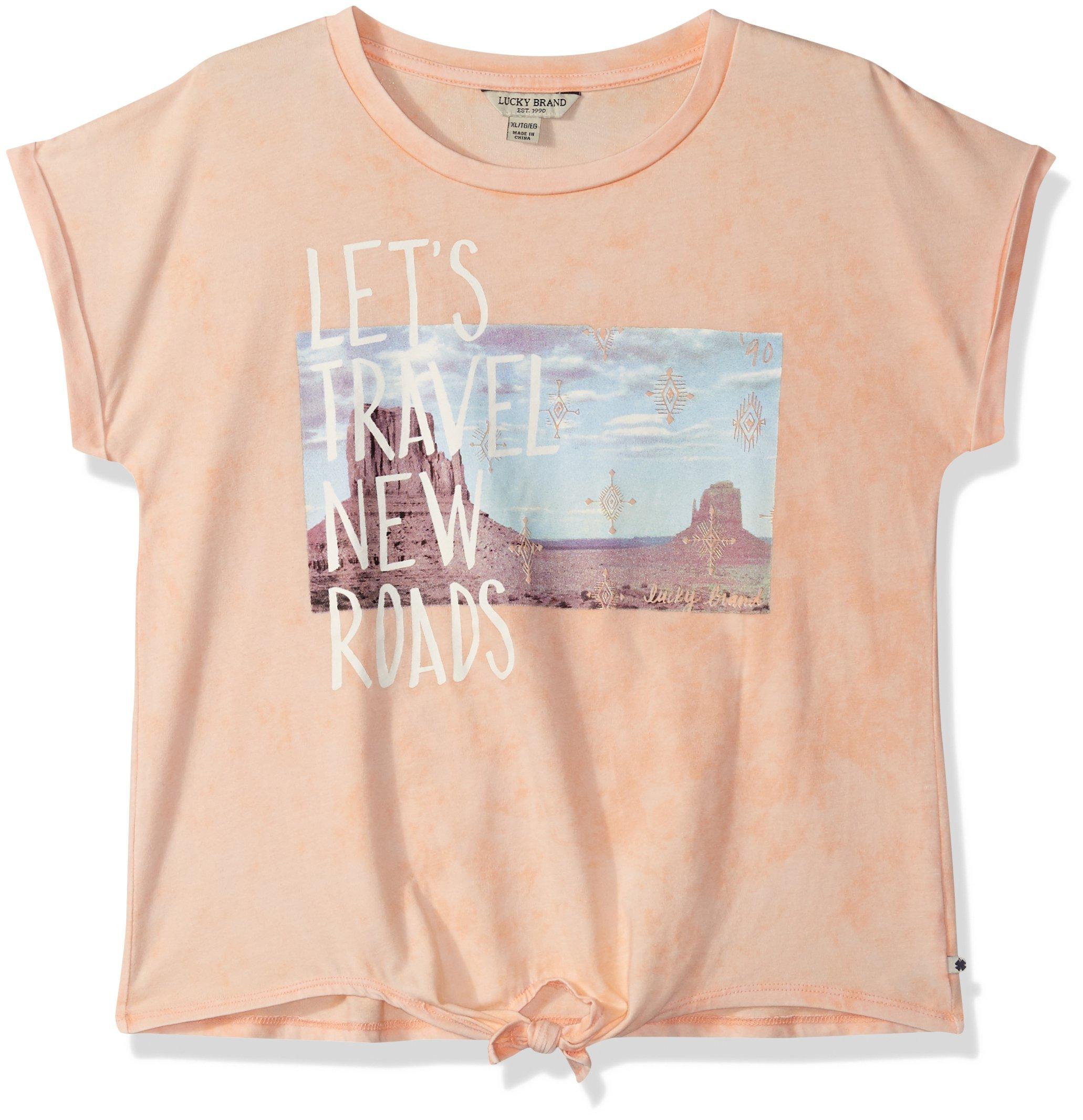 Lucky Brand Big Girls' Fashion Top, Jacinda Salmon, Large