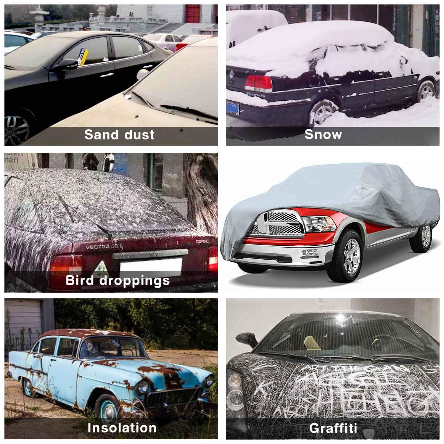 Leader Accessories Premium Car Cover 100/% Waterproof Cars Length up to 228 Breathable Outdoor Indoor Car Cover All Weather Protection
