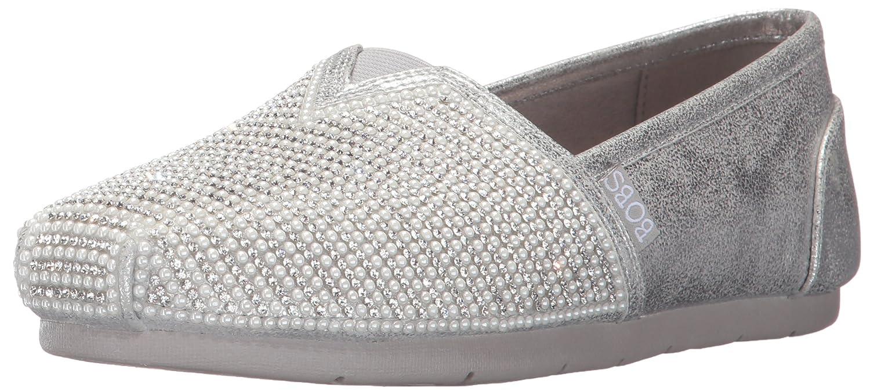 Skechers Women's Luxe Bobs-Big Dreamer Flat B01NCUTAHA 5 B(M) US|Silver