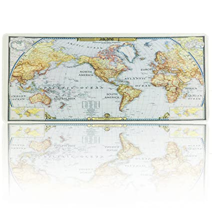 Amazon jialong world map extended gaming mouse pad large size jialong world map extended gaming mouse pad large size 900x400mm office desk pad mat with stitched gumiabroncs Choice Image