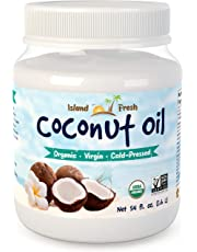 Island Fresh Superior Organic Extra Virgin Coconut Oil, Cold-Pressed and Unrefined for Irresistible Aroma and Taste, 54 Ounce