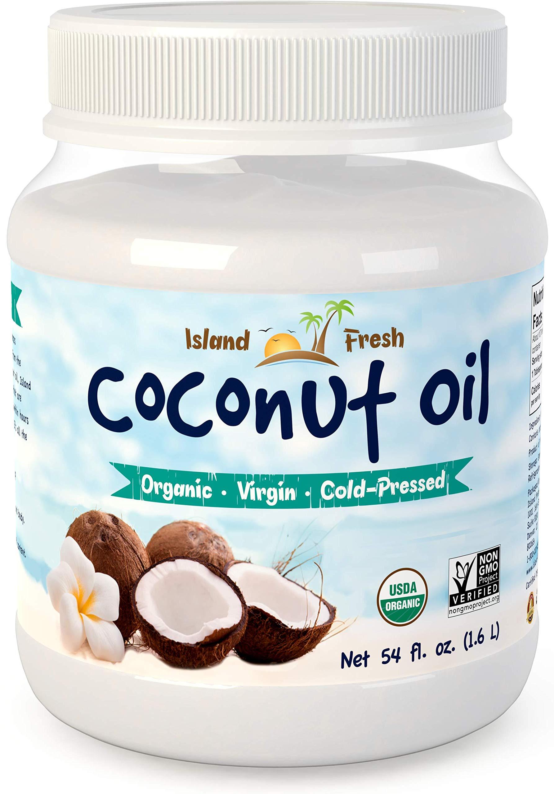 Island Fresh Superior Organic Virgin Coconut Oil, 54 Ounce by Island Fresh