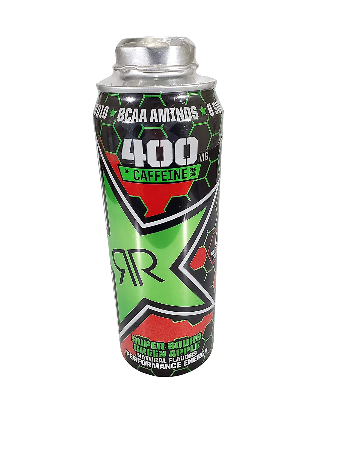 Rockstar Xdurance Energy Drinks in Resealable 24 Ounce Cans (Super Sour Green Apple, 12 Cans)