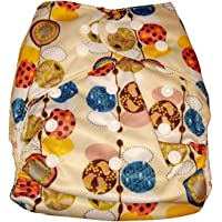 Baby Bucket All-in-One Bottom-Bumpers Cloth Diaper with 1 Cloth Diaper pad (Off White Pattern)