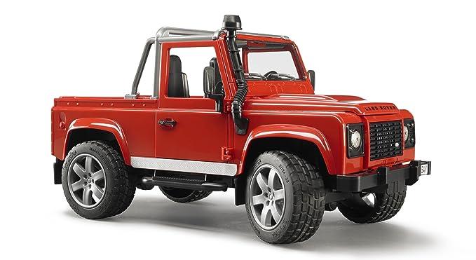 34 opinioni per Bruder- Pick-up Land Rover Defender, colore rosso