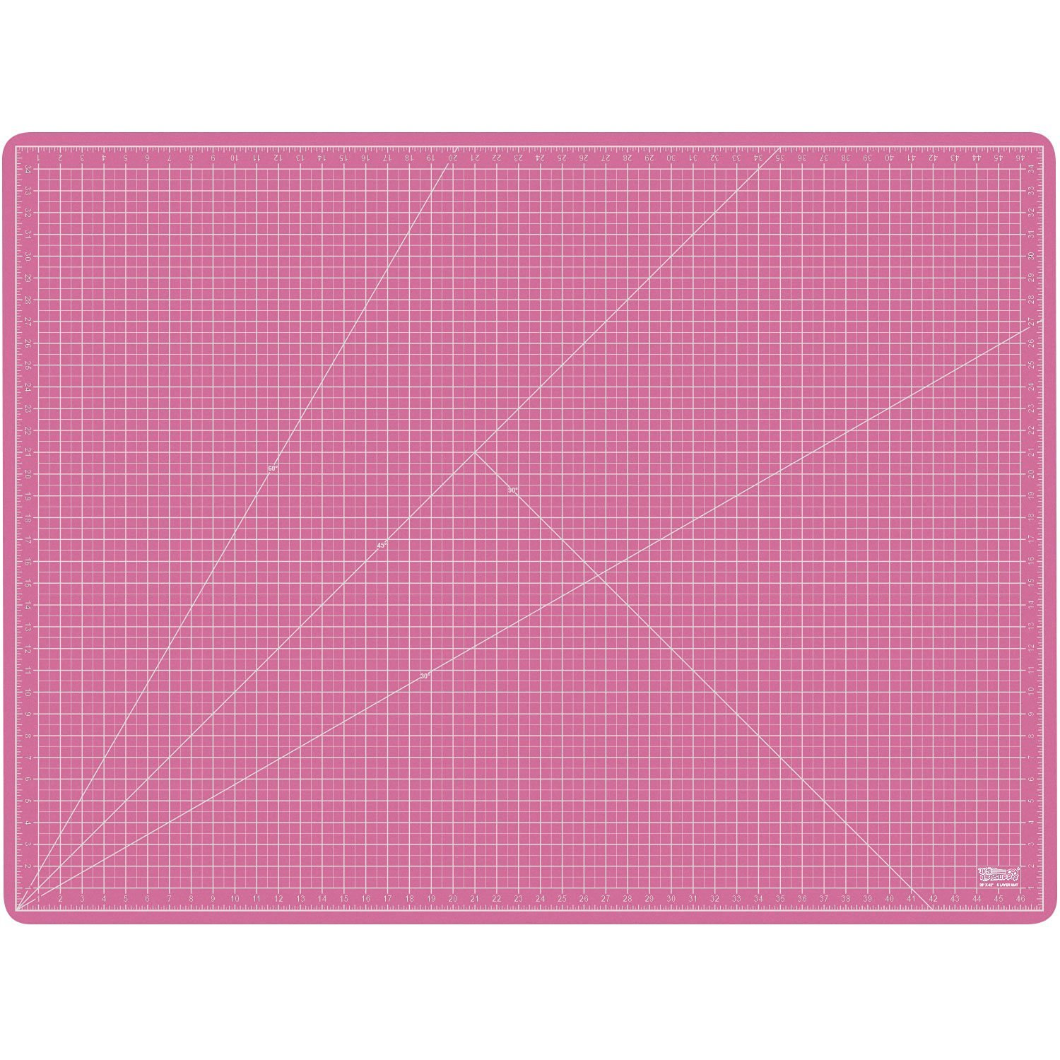 US Art Supply 36'' x 48'' PINK/BLUE Professional Self Healing 5-Ply Double Sided Durable Non-Slip PVC Cutting Mat Great for Scrapbooking, Quilting, Sewing and all Arts & Crafts Projects