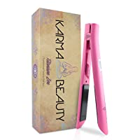 Titanium Hair Straightener | 1'' Flat Iron | LCD Screen | Auto Shut-Off | Heats Up Fast | Great for Keratin Treatment |Cool Tips for Easier Use | Dual Voltage | Karma Beauty |