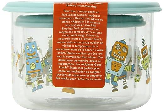 Amazon.com : Sugarbooger Good Lunch Small Snack Container, Retro ...