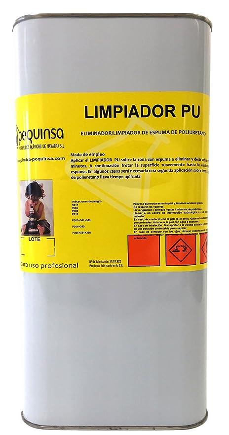 Limpiador de espuma de poliuretano. Envase 5 litros.