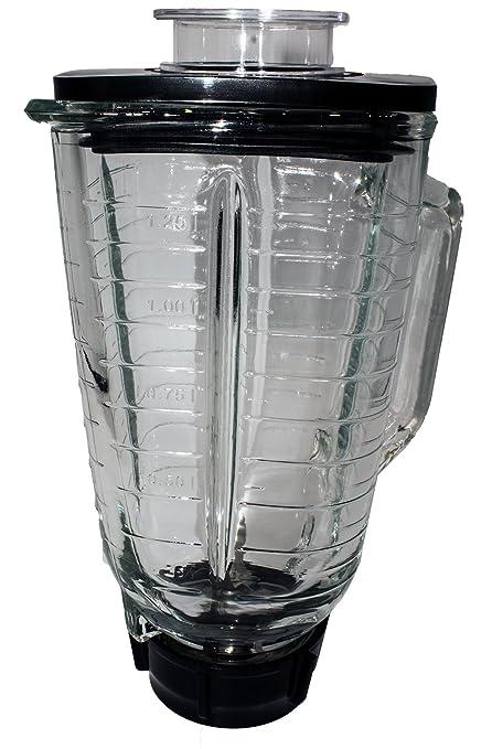 Amazon.com: Blendin - Juego de 5 tarros cuadrados de cristal ...