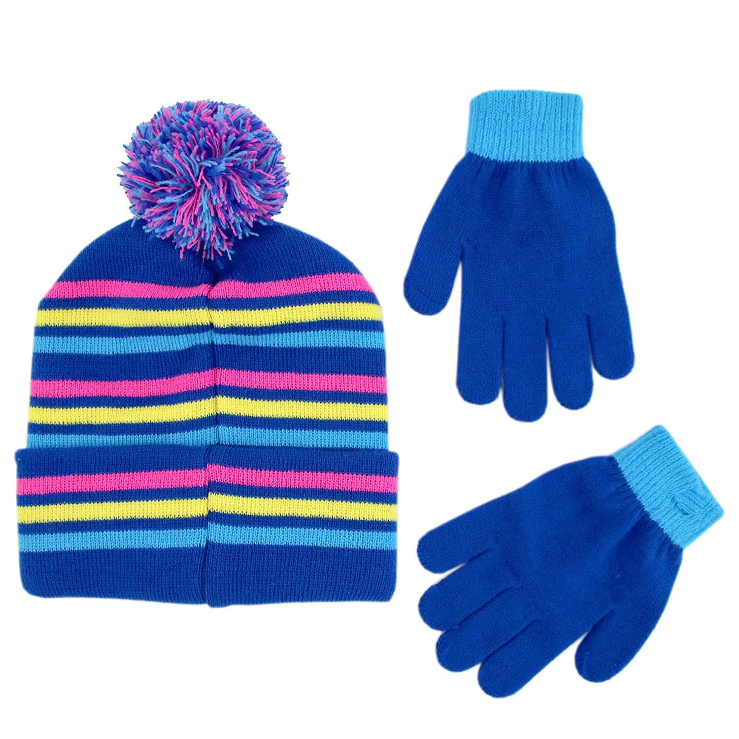 8980bfa7ad0 Amazon.com  Hasbro Girls Little Pony Beanie Hat and Gloves Cold Weather Set