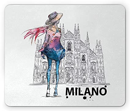 ec7dd7ad97f92 Amazon.com : Fashion Mouse Pad, Girl with Fashion Clothes Looking ...