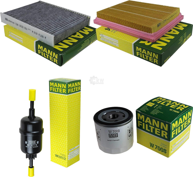 Mann Filter Inspektions Set Inspektionspaket Innenraumfilter Kraftstofffilter Luftfilter Ölfilter Auto