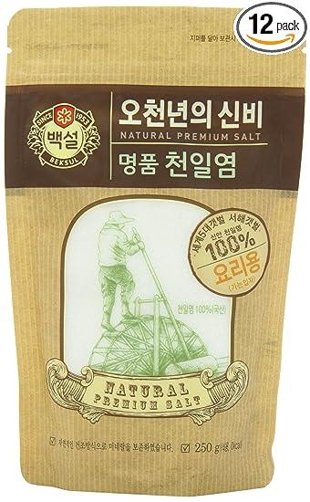 CJ Fine Natural Premium Salt, 250g Packages, (Pack of 12)