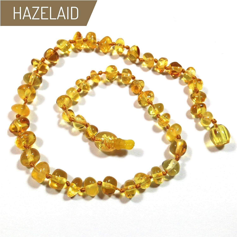 Hazelaid (TM) 11' Pop-Clasp Baltic Amber Lemon Necklace