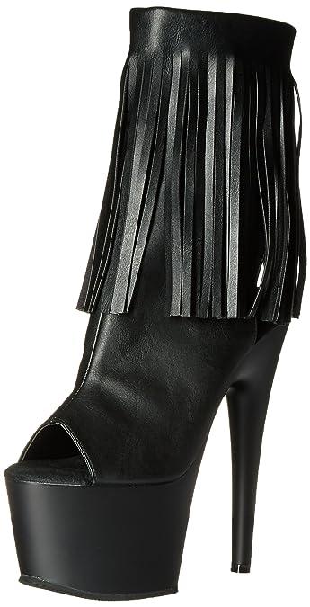 Pleaser Adore-1016, Bottines Femme, (Blk Faux Leather/Blk Matte Bpu/M), 38 EU