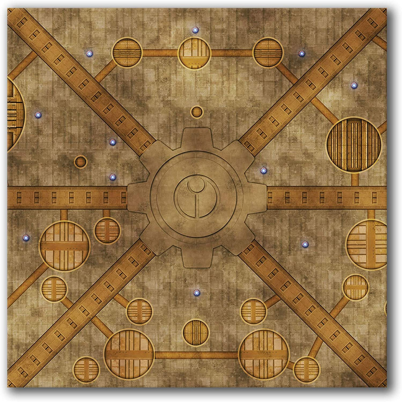 Frontline Gaming - FLG マット - Interstellar City 4x4フィート - ネオプレン ウォーゲーミング マット