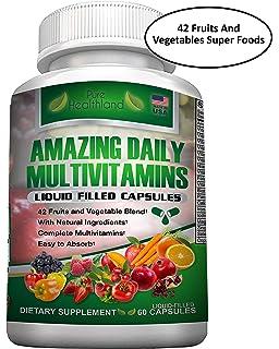 Multivitaminas Para Hombres y Mujeres. Fácil de Absorber. Multivitamínico Natural a Base de Alimentos